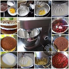 Kulinarne Szaleństwa Margarytki: Wiśniowa fantazja (torcik z wiśniami) Chocolate Fondue, Food, Meal, Eten, Meals