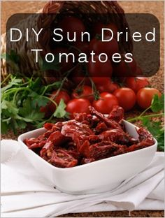 How To Make Sun Dried Tomatoes//
