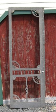 8u0027 Antique Civil War Era Victorian Gothic Steamboat Country House Wood SCREEN  DOOR