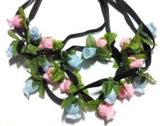 These gorgeous handmade flower crowns come in a variety of colours, Flamingo pink and Afternoon blue. It comes with a stretchy adjustable strap for a convenient fit for all sizes!*Free shipping is available for a limited time only*