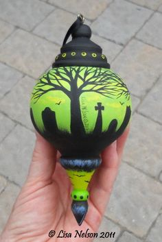 Hand painted ornament.