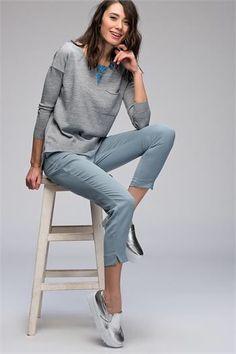 KARE YAKA CEPLİ KAZAK www.fashionturca.com