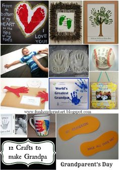 12 Handprint Crafts to Make Grandpa for Grandparent's Day #handprintholidays