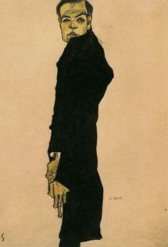 Max Oppenheimer by Egon Schiele (1910)