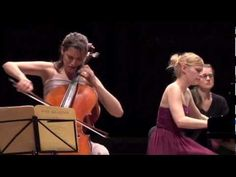 Brahms Sonata op.38 1st mvt Camille Thomas and Beatrice Berrut - Beautiful Performance.