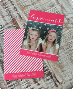 Photo Valentine's Day cards - The House of Smiths   design by Jill Means of Brightside Prints