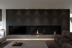 Discover all the information about the product Gas fireplace / contemporary / original design / closed Avenue MF GHE - Metalfire and find where you can buy it. Minimalist Fireplace, Modern Minimalist Living Room, Modern Fireplace, Fireplace Wall, Fireplace Design, Home Interior Design, Interior Architecture, Foyers, Living Room Designs