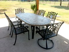 grand terrace dining set from gensun casual patio furniture