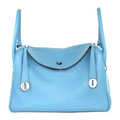 50571ac79 Lindy Hermès bag in Taurillon Clemence. The blue jean color is stunning on  this Hermès