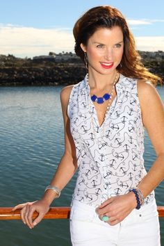 Nothing is more #nautical than an anchor-patterned shirt! | Silpada Blog #WomensFashion