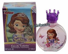 Sofia The First Perfume by Disney, 3.4oz/100ml Edt Spray For Girls New In Box