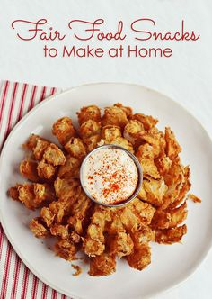 Fair Food Snacks to Make at Home - Corn Dogs, Funnel Cakes and more.