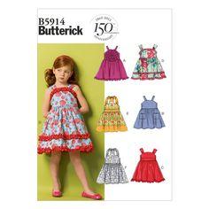 Butterick Patterns MCCALL s Patterns beb/és Top//Vestido y Bragas tama/ño New Born/ /XL