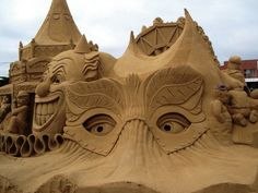 Under the Big Top Sand Sculpture
