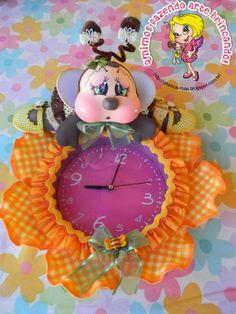 Qmimos - Fazendo Arte brincando: Relógio - Abelhinha Baby