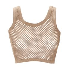 Cropped-Fishnet-Sheer-Mesh-Sleeveless-Claire-Vest-Sexy-T-Shirt-Top-Size-Womens