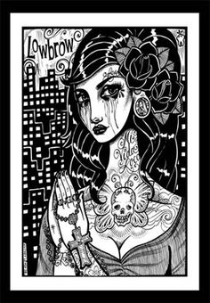 Lady Muerta Online Store - Lady Muerta Whitney Lenox art print