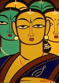 Artist - Jamini Roy - Fivewomen