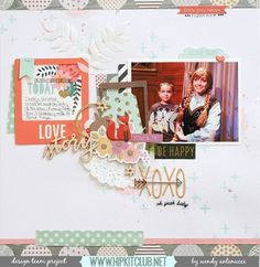 Designer @wantenucci is sharing this awesome LO on our blog She used our october2015 kits included @pebblesinc Jen Hadfield DIY home collection @pinkpaislee Cedar Lane @primamarketinginc watercolor pencils @americancrafts