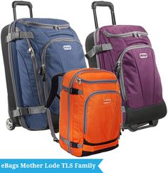 eBags Mother Lode TLS Family: How to choose the right luggage for your trips