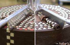 Chocolate mill reveals hidden geometric patterns layer by layer
