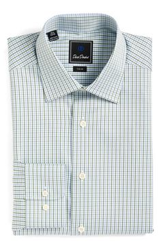 David Donahue Trim Fit Check Dress Shirt available at #Nordstrom