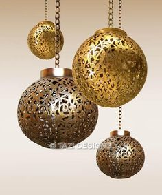 Perforated Gold And Bronze Metal Pendant Lights In A Custom Cer Drop Cerlights