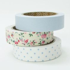 Nuage Fabric Masking Tape  First Love  Set 3 by craftyjapan