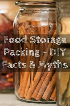 "Food Storage Packing - DIY Facts & Myths - When it comes to food storage, you have to get it right, food can go off so easily and that is a waste of money and in a survival situation, could be the end of you... Not only with infection or poisoning but its like the infamous line when you are at sea ""all that water and nothing to drink"" the same can be said about your food storage."