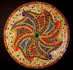 This is a beautiful mosaic bowl by Bicolore. I would love to copy this design and make stepping stones...