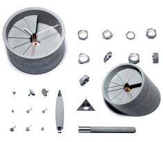 Concrete Objects by 22  SO COOL!  I especially love the ridged pens that smooth out over time.