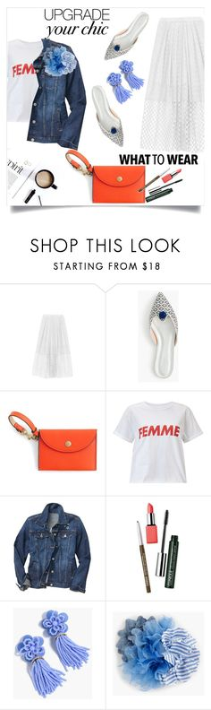 """What to wear - Eyelet"" by lidia-solymosi ❤ liked on Polyvore featuring J.Crew, Miss Selfridge, Gap and Clinique"
