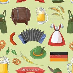 Oktoberfest Pattern Germany Elements