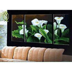 Calla lilies Triptych