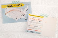 Map Save the Date   Shop Wedding   Hello Tenfold