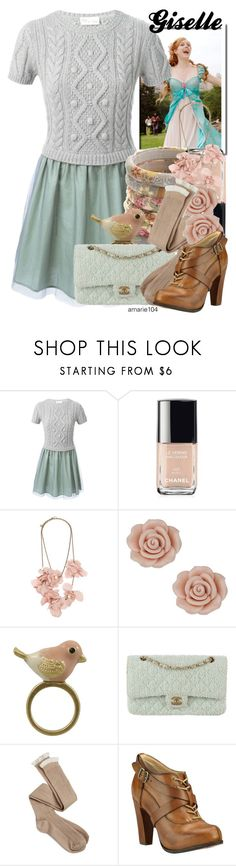 """""""Giselle"""" by amarie104 ❤ liked on Polyvore featuring RED Valentino, Chanel, Lanvin, Miso, Charlotte Russe and Timberland Boot Company"""