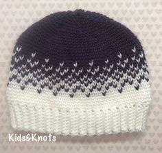 Split Heart Knit Look Hat - free crochet pattern by Kelsey Daughtry
