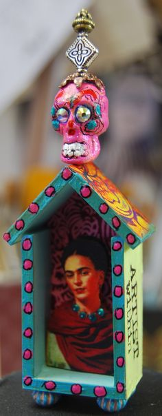 """Artist Within"" by MJChadbourne/Desert Dream Studios copyright 2013 All Rights Reserved....tiny house art shrine!"