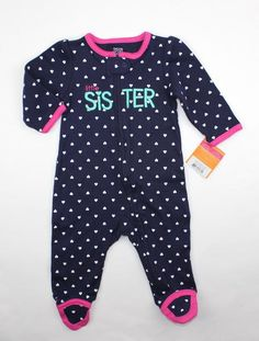 a165bb2c6f New Baby Girl  Little Sister  Sleeper by Carter s