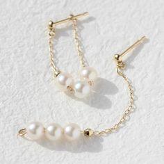 2WAYで毎日使える、一生愛せる、あこや真珠。。【あす楽対応】あこや真珠 本真珠 2WAY 10金ゴールドロングピアス フープピアス・スプレンディーナ アコヤパール レディース 華奢 シンプル パーティー 結婚式 高級 上品 アコヤ真珠 6月の誕生石 冠婚葬祭 入学式 卒業式 入社式 参観日 誕生日プレゼント 女性 小粒