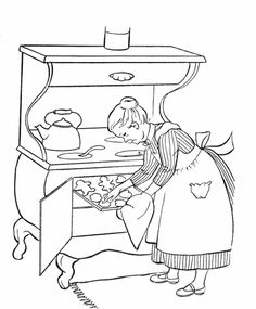 grandparents day coloring pages grandma bakes cookies