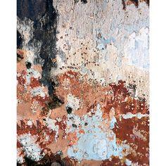 Red Peeling Paint Printed Backdrop