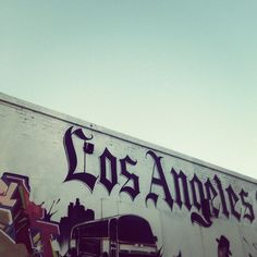 Melrose Street Art Los Angeles  Stretched Canvas