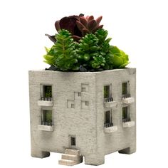 Miniature Concrete Apartment Planter