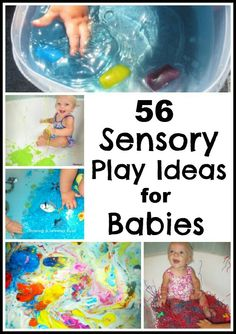 Play for Babies Growing A Jeweled Rose: 56 Sensory Play Ideas for Babies. What is your baby's favorite thing to EXPLORE?Growing A Jeweled Rose: 56 Sensory Play Ideas for Babies. What is your baby's favorite thing to EXPLORE? Baby Sensory Play, Sensory Bins, Baby Play, Baby Kids, Sensory Boards, Sensory Bottles, Sensory Table, Infant Activities, Activities For Kids