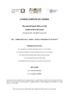 """Studio Legale Buonomo (Na / Ce): Evento formativo PCT """"Pec"""
