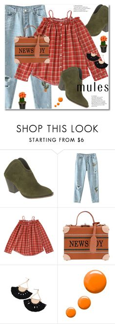 """""""Slip 'Em On: Mules"""" by svijetlana ❤ liked on Polyvore featuring Chinese Laundry, Topshop, mules and zaful"""