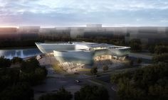 exhibition center in ningbo by playze schmidhuber