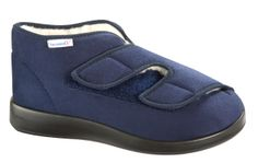 Varomed GENOA Winter1 (blue) - The Genoa winter has a wide Closure and is therefore highly variable. The Velcro closures allow physically impaired residents from opening by themselves, tightening and closing of the shoes. Due to the length L also greatly swollen and related feet have enough room.
