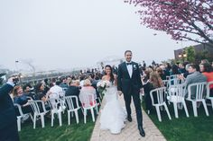 Wedding ceremony at the Riviera in Massapequa, captured by NYC wedding photographer Ben Lau.